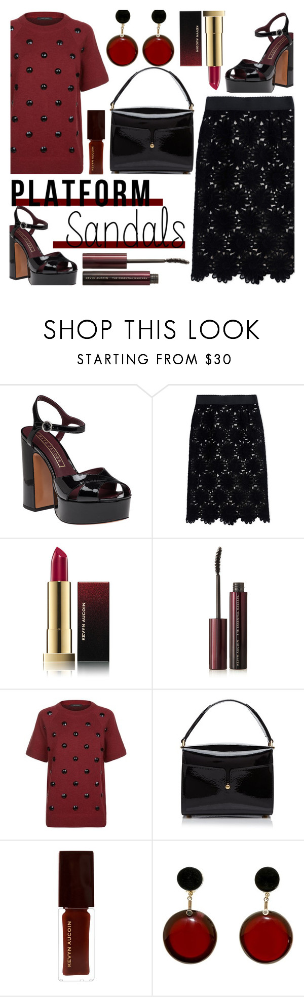 """""""Platform Sandals"""" by rasa-j ❤ liked on Polyvore featuring Marc Jacobs, Dolce&Gabbana, Kevyn Aucoin, Marni, platforms, womenfashion and summer2016"""