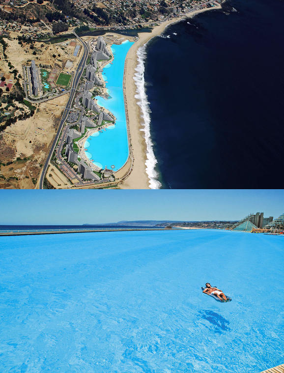 worlds largest and deepest swimming pool at san alfonso del mar resort in chile 19