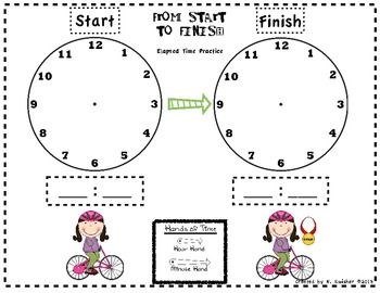 Elapsed Time Practice: From Start to Finish