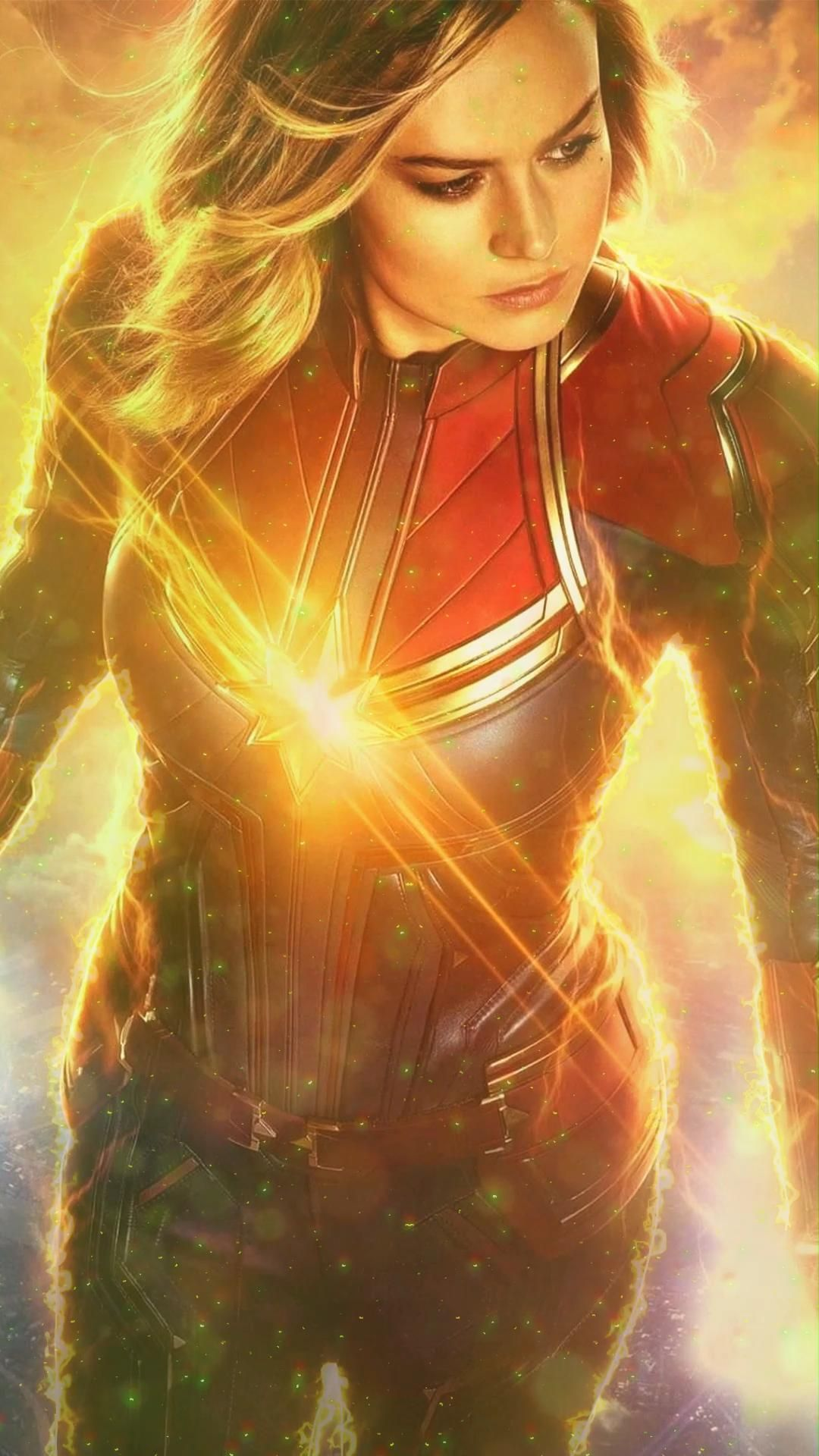 Animated Video GIF(DOWNLOAD) Phone Wallpaper Captain Marvel