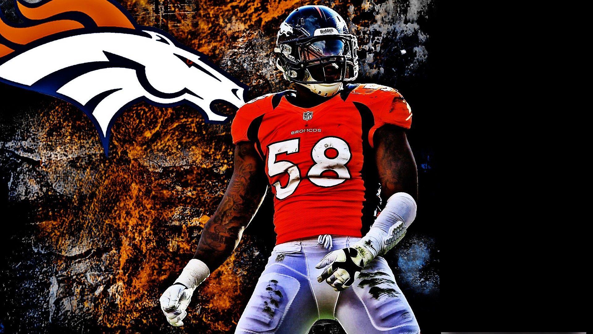 Von Miller Denver Broncos Mac Backgrounds 2021 Nfl Football Wallpapers Nfl Football Wallpaper Mac Backgrounds Denver Broncos Wallpaper