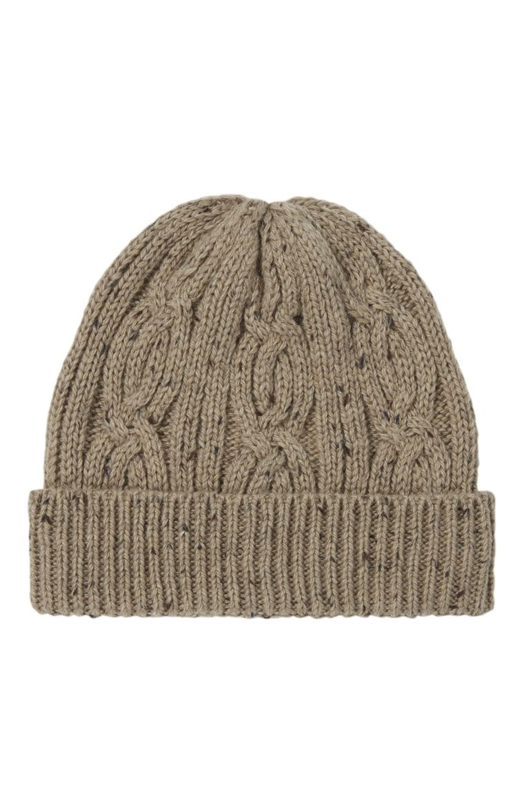 An Attractive Oatmeal Cable Knit Beanie For Primark Men - Primark Online  Shop ba5e2d78eec