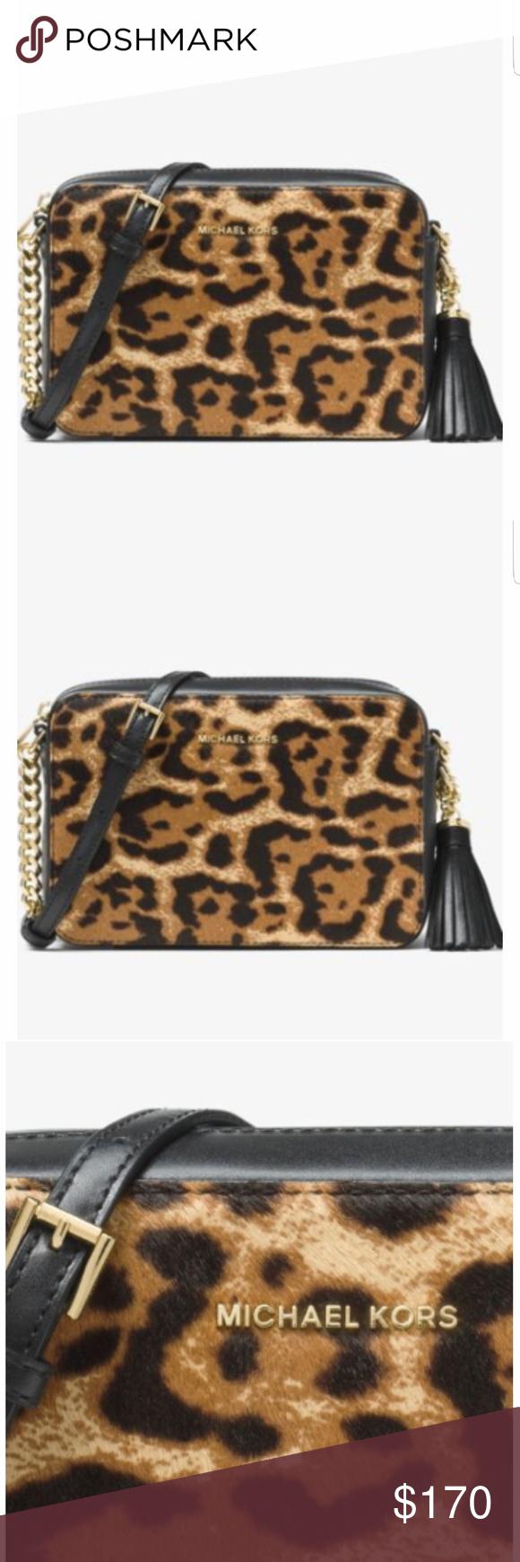 6d4a8f0cc98a ️MICHAEL KORS crossbody Name  ▫️Ginny Leopard Calf Hair Crossbody ▫️Style