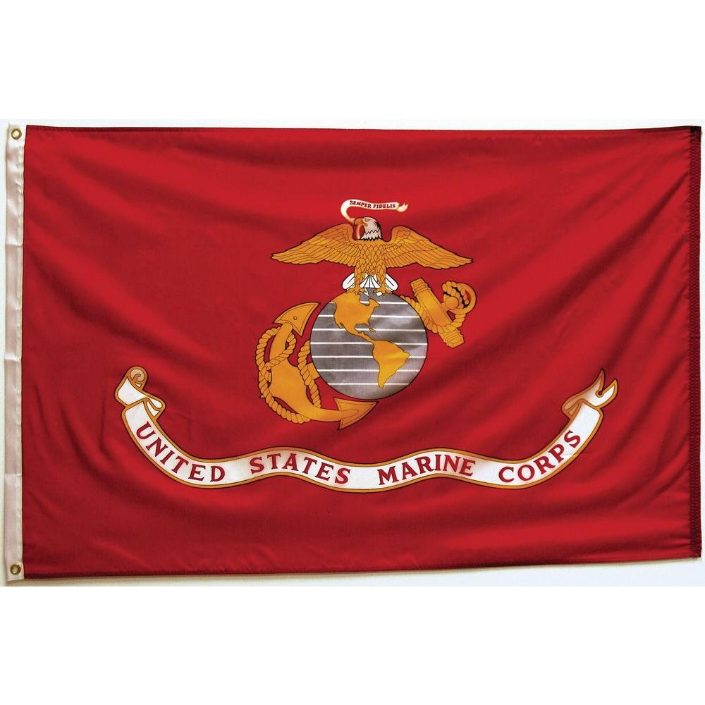 Seasonal Designs 3 Ft X 5 Ft Marine Corps Flag In 2020 Marine Corps Gift Marine Corps Birthday Usmc