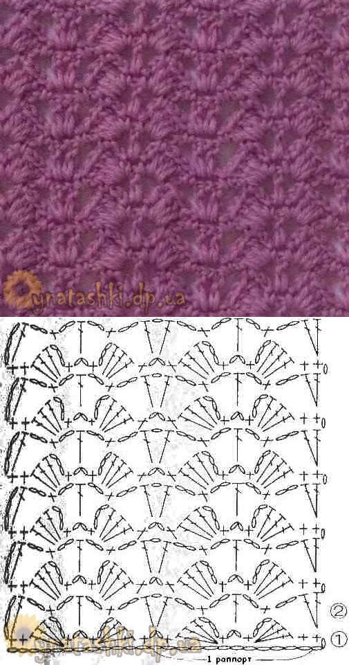 УЗОРЫ КРЮЧКОМ | Patrones de crochet, Puntadas y Patrones
