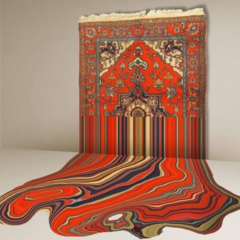Faig Ahmedu0027s Trippy Rugs That Are Meant To Look As If A Software Bug Has  Distorted