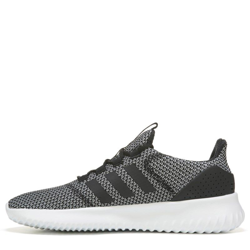 Adidas Men's Neo Cloudfoam Ultimate Sneakers (Grey/Black) - 10.5 M
