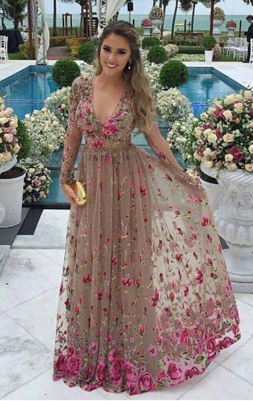 Pin De Etyam Ziur En Fab Fashion Vestidos Largos Florales Vestidos Formales Largos Vestidos De Gala Largos