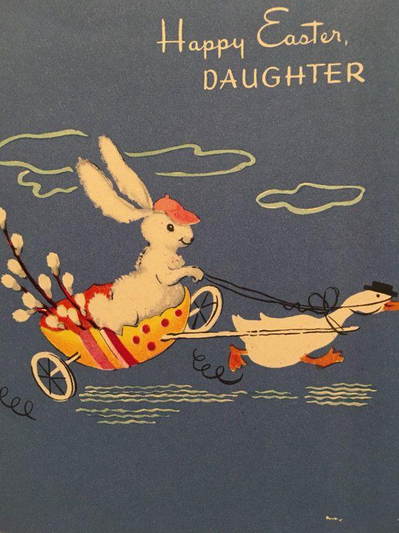 Vintage easter card gartner and bender inc daughter easter nos gartner and bender inc daughter easter m4hsunfo