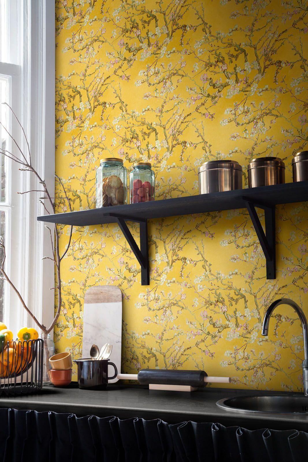 Behang Amandelbloesem / Wallpaper Almond Blossom collection Van Gogh ...