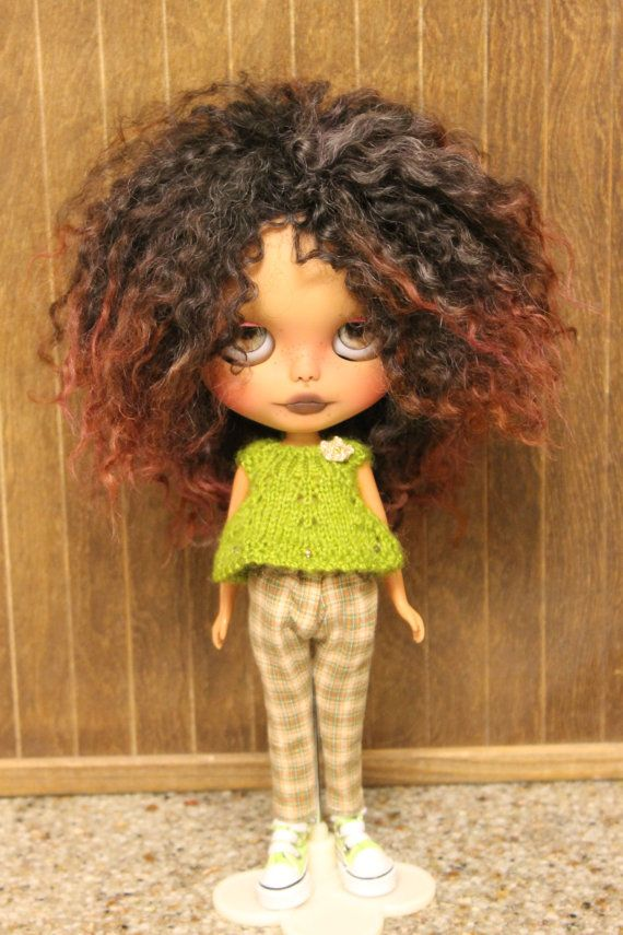 OOAK Custom Tan Blythe Doll by PaisleyMaeDesigns on Etsy