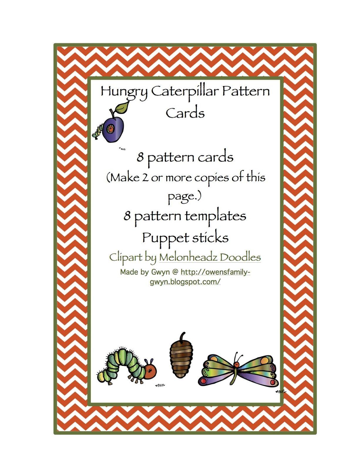 Preschool Printables Free Hungry Caterpillar Pattern