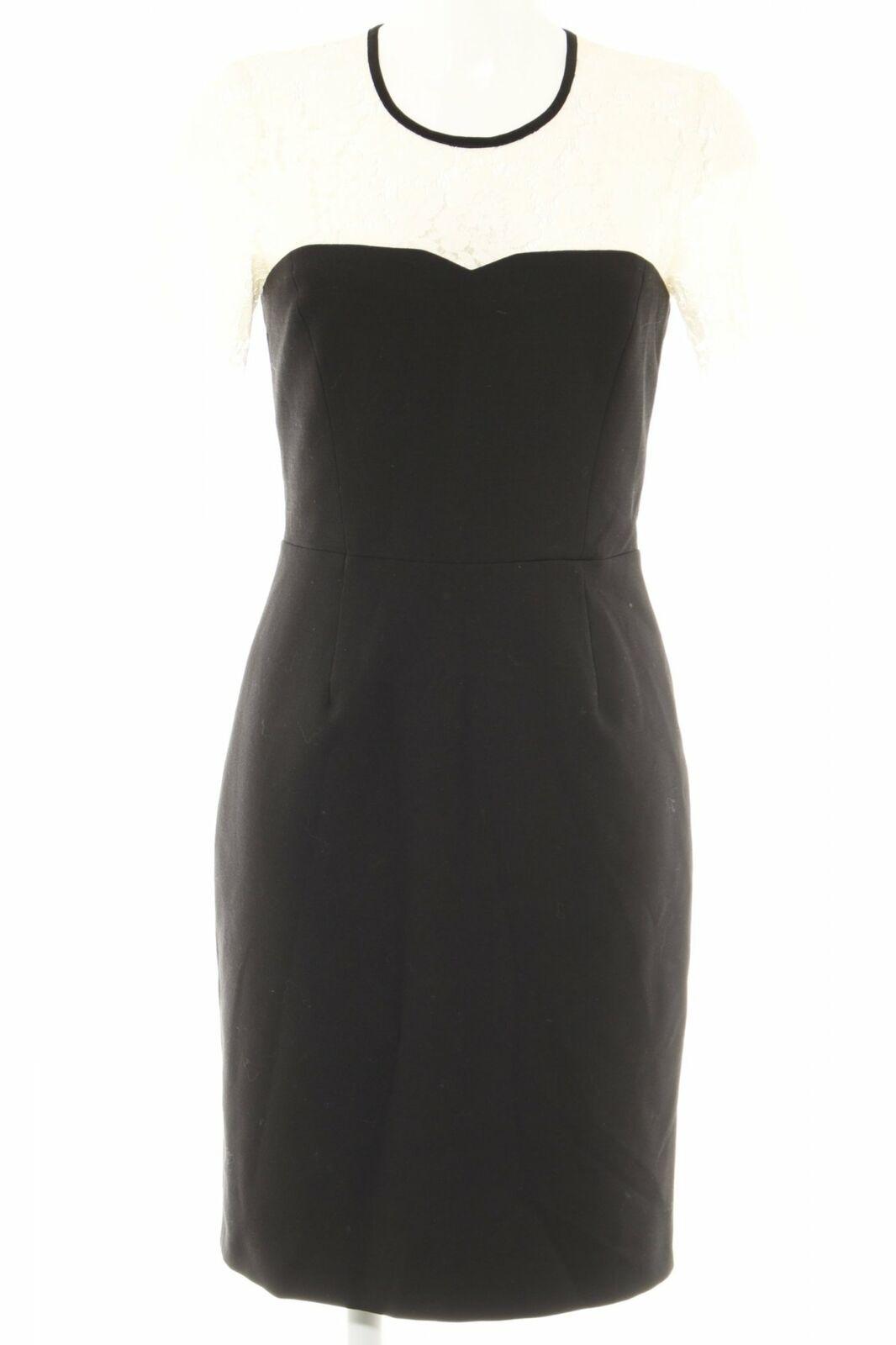 SET Etuikleid schwarz-weiß Elegant Damen Gr. DE 11 Kleid Dress