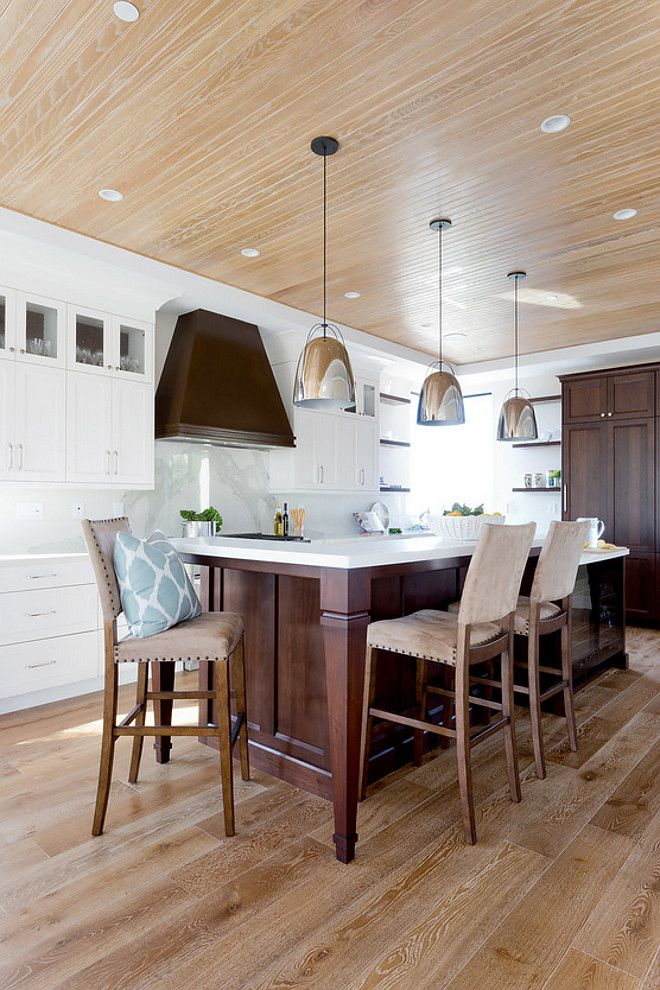Kitchen Features White Oak Floors And White Oak Beadboard