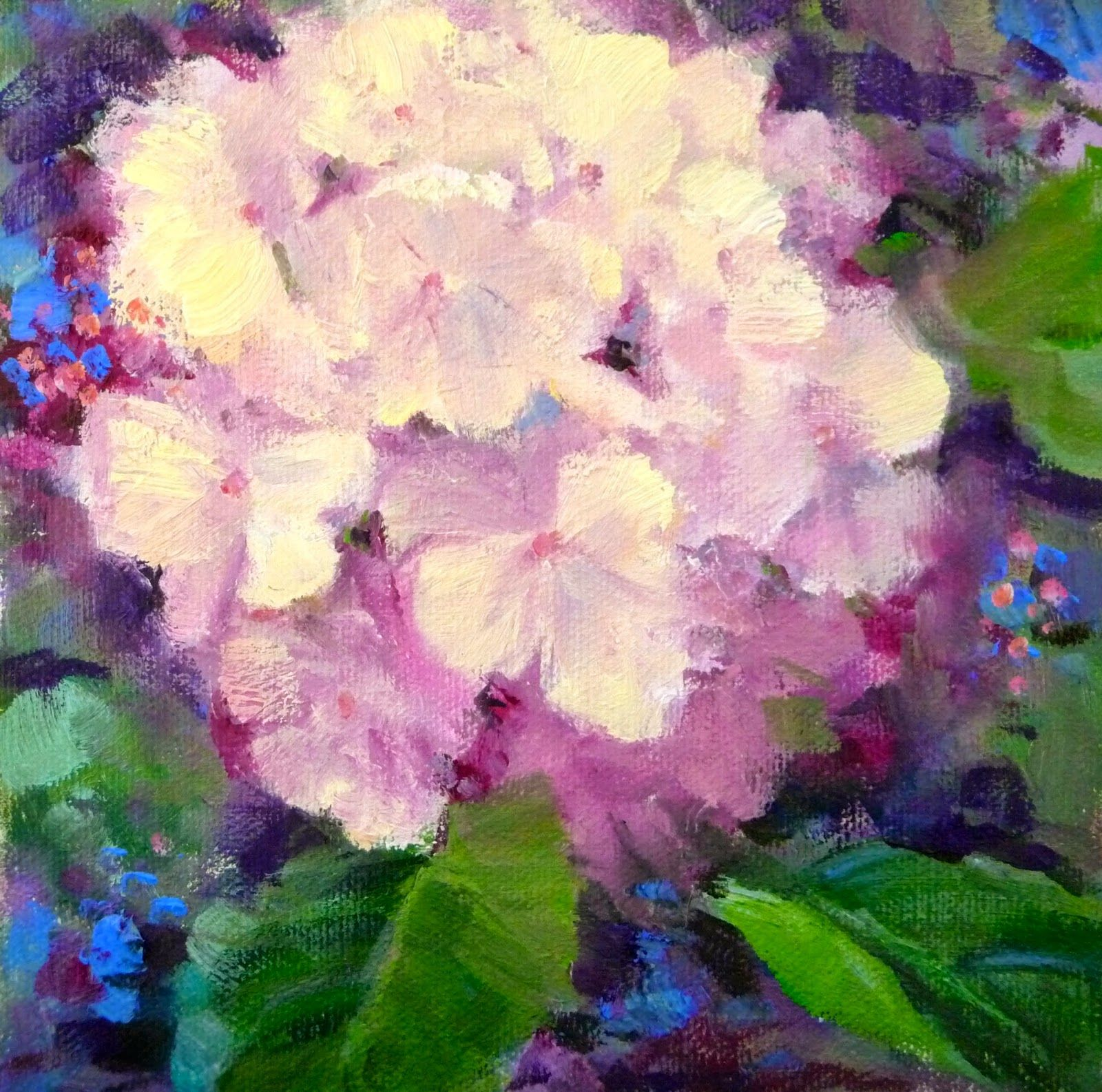 Summer Solstice Blossom ©   Painting A Day: Small Masterpieces by Tina Wassel Keck ©