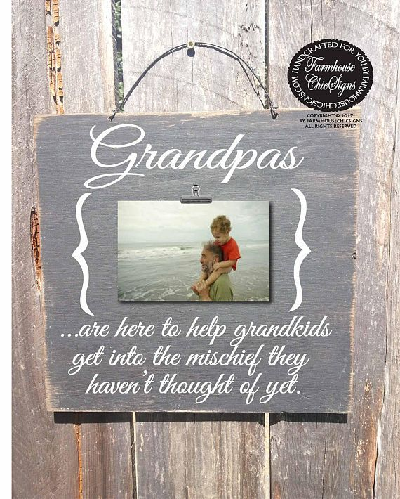 Father's Day gift grandpa sign grandpa frame papa gift
