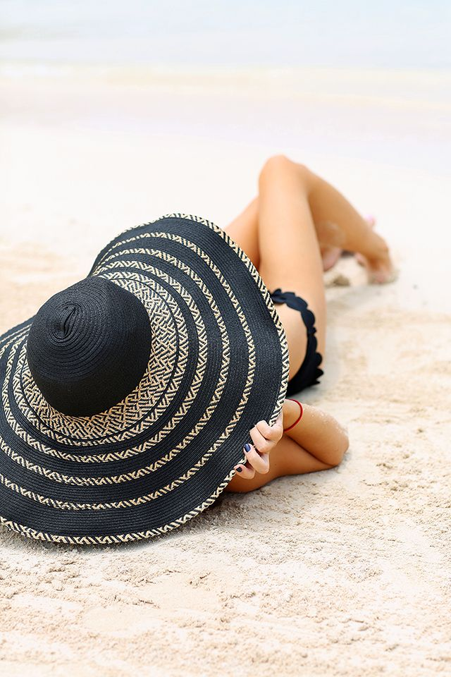 7fefcc2b622 Gain some shade out on the beach with a great wide-brim hat! Perfect