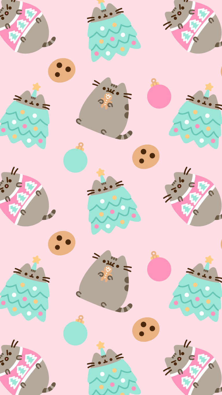 free exclusive pusheen android and iphone christmas wallpapers clairesblog