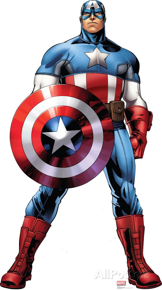 Captain America Marvel Avengers Assemble Lifesize Standup Cardboard Cutouts Allposters Com Capitao America Desenho Imagens Do Capitao America Capitao America
