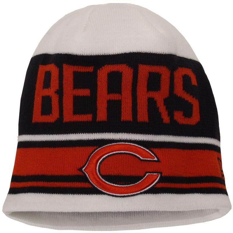 Chicago Bears New Era Snow Top Knit Beanie - White  1b27d3a68414