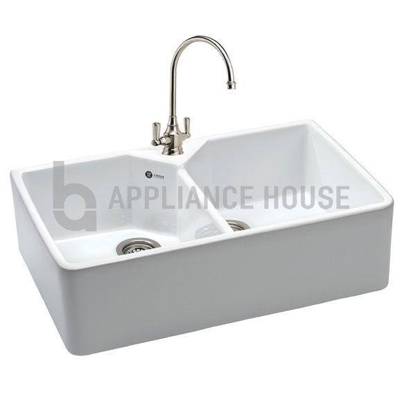 carron phoenix belfast 200 ceramic sink double bowl with a 220mm bowl depth. beautiful ideas. Home Design Ideas