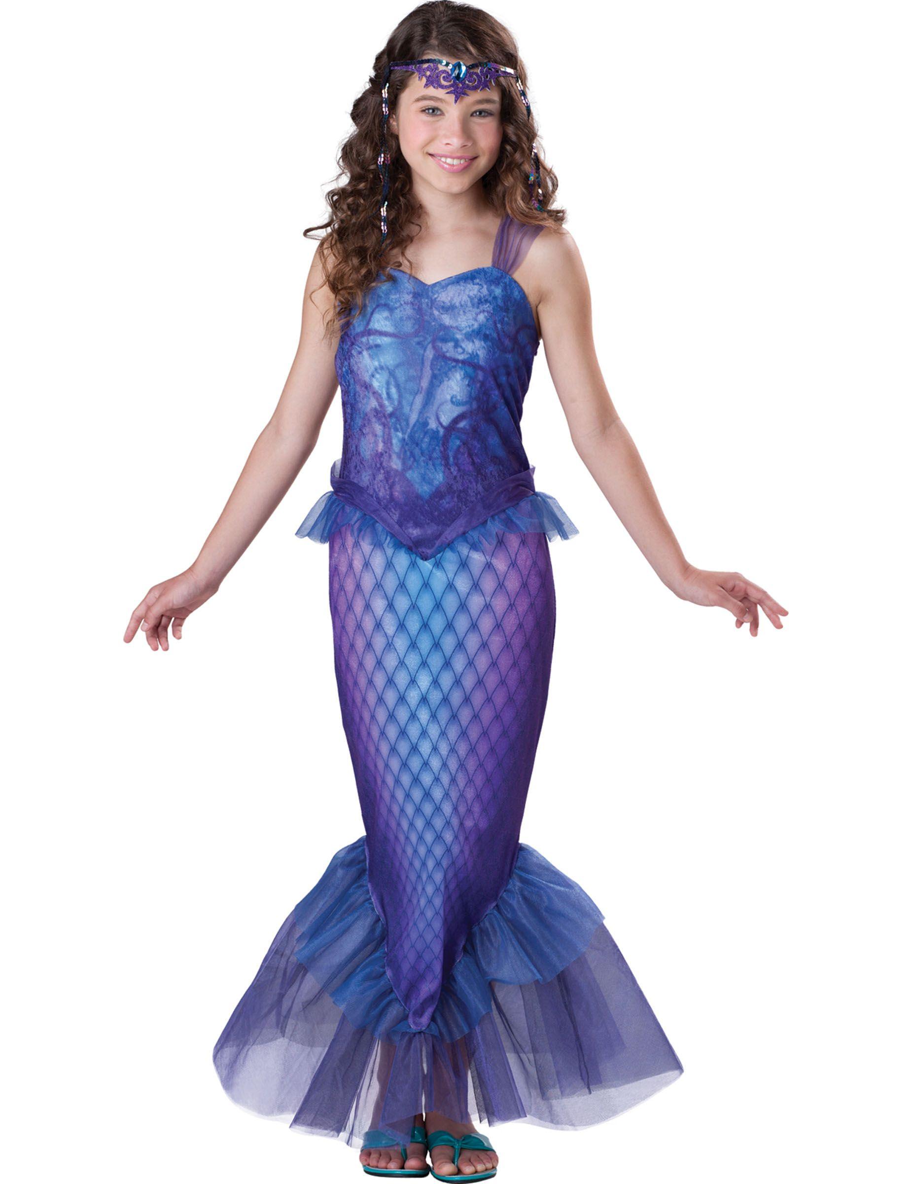 Déguisement Sirène pour fille - Premium   Ce déguisement de sirène pour  fille se compose d a81af42d6fd