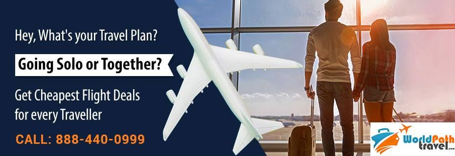 Traveling with Partner or Alone Just Book return #airtickets to Get the Benefits of #discountedAirfare only at #worldpathTravel #lowcostairfare #deals book now #airtickets to Your dream #destination