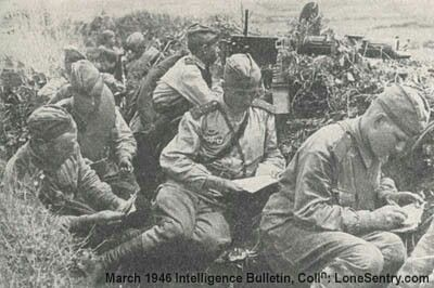 Soviet soldiers writing letters to loved ones. WWII