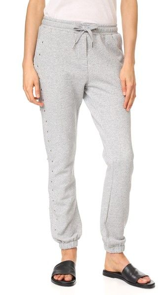 Zoe Karssen Woman Studded French Cotton-blend Terry Track Pants Gray Size S Zoe Karssen Sale Deals Cheap Sale In China Amazon Order FZhQZbSYOh