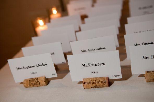 Place Card Wedding Wine Cork Escort Holders