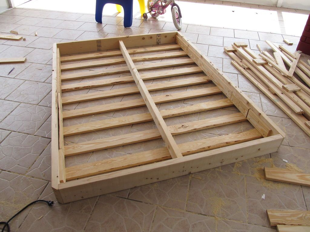 (Re)Building a Bed Foundation Box spring bed frame, Bed