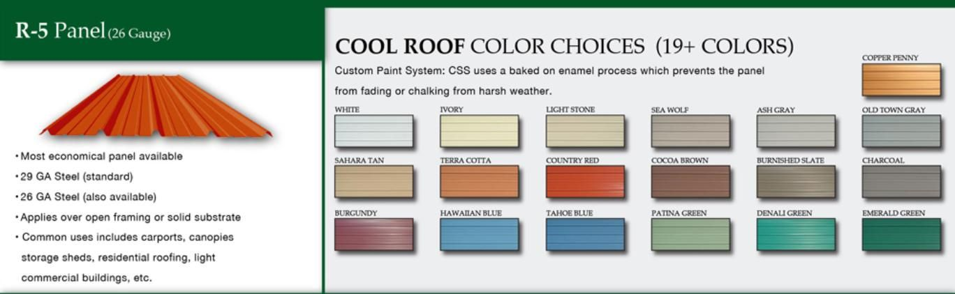 Best R5 Panel In Over 19 Colors Cool Roof Roof Colors 400 x 300