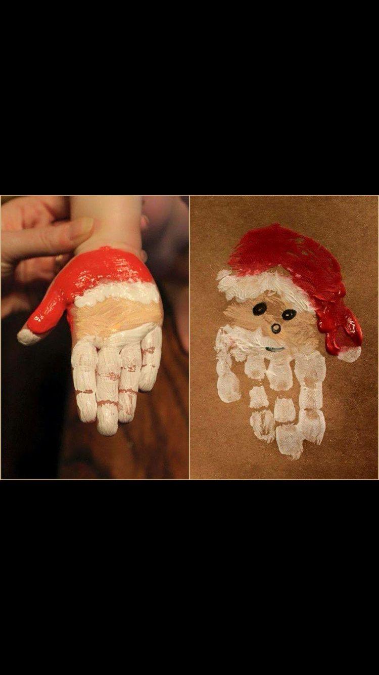 Idea For Eyfs Christmas Cards Handprint Christmas Preschool Christmas Print Christmas Card