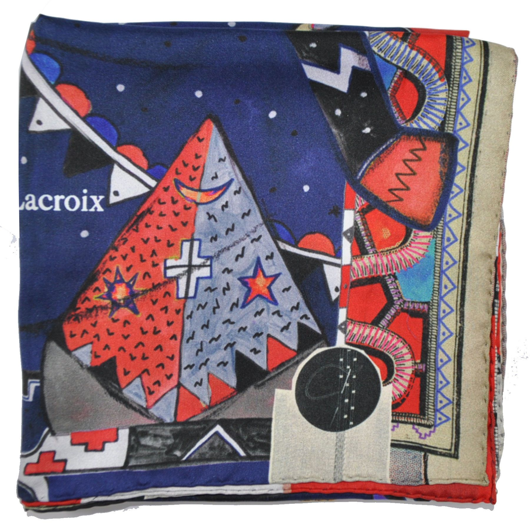 32bf8ab00fd8 Christian Lacroix Scarf Bull Large Silk Square Scarf from Como ...
