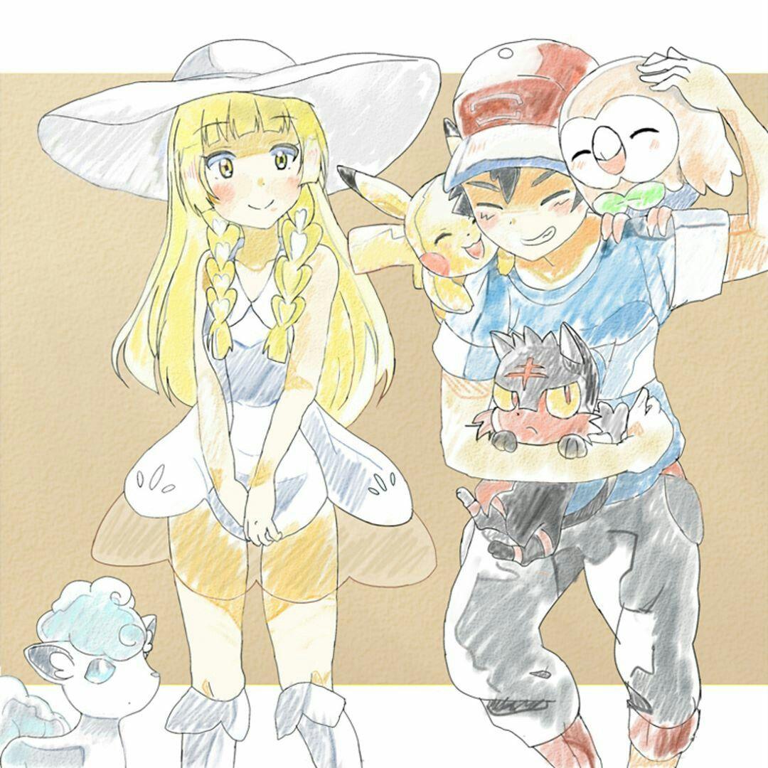 Aureliashipping ash x Lillie pokemon Pokemon, Pokemon