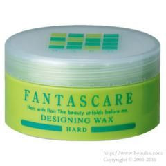 http://www.beauba.com/products/detail.php?product_id=12295 Napla Fantascare Designing Wax Hard 50g. #Styling #Wax  Styles hair while conditioning it with 4 naturally-extracted essences: herbal extract. fish-derived collagen / conchiolin and silk protein. Provides movements in hair ends and hair tufts. Finishes naturally without being heavy with hard setting...