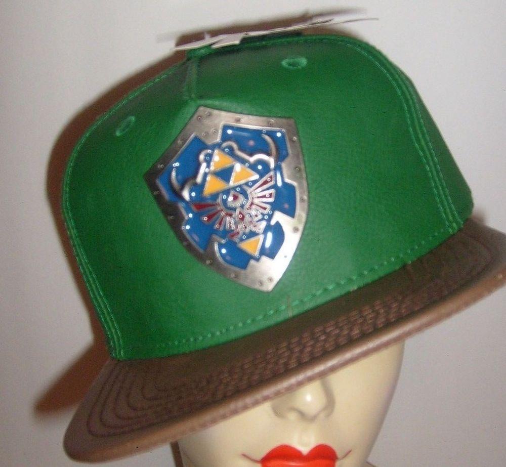THE LEGEND OF ZELDA SHIELD ORIGINAL SNAPBACK FLAT BILL HAT CAP NEW   Nintendo  BaseballCap b9b43403b892
