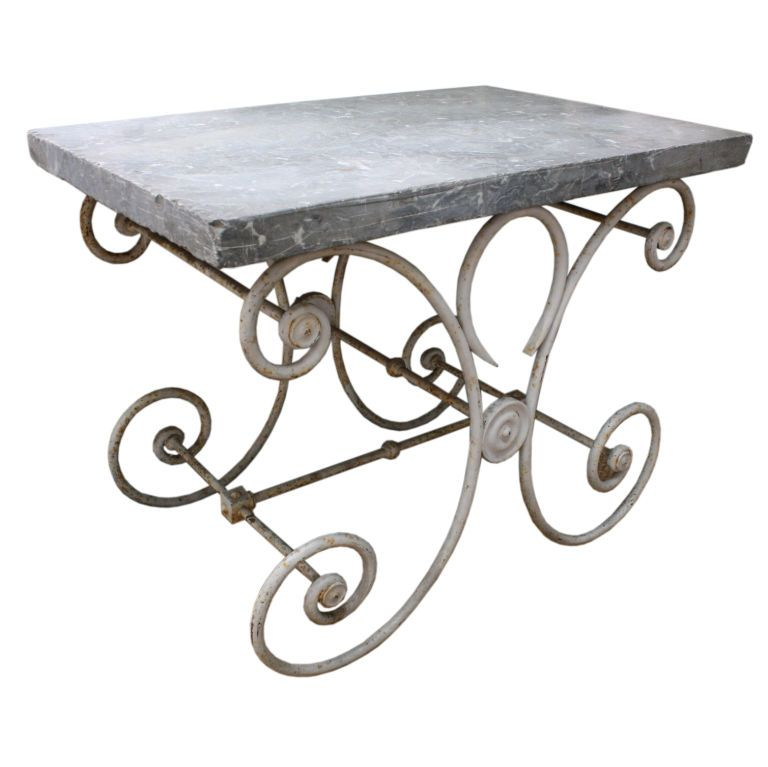 French Marble Top Baker S Table Bakers Table Marble Top