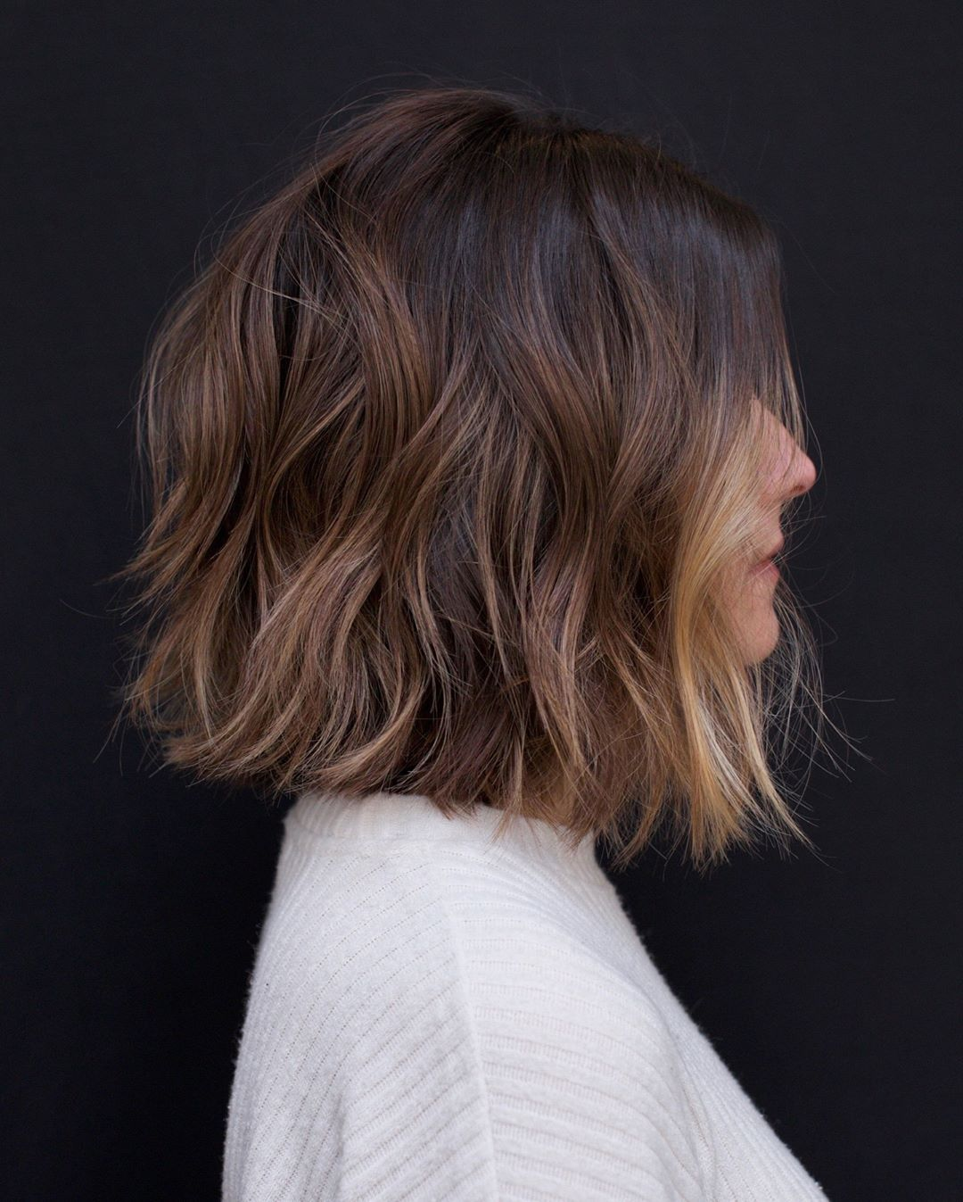 10 Easy Wavy Bob Hairstyles with Balayage - 2021 F