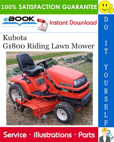 Kubota G1800 Riding Lawn Mower Parts Manual In 2020 Riding Lawn Mowers Riding Kubota