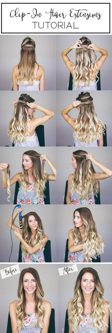 Hair tutorial // how to clip in extensions | peinados con.