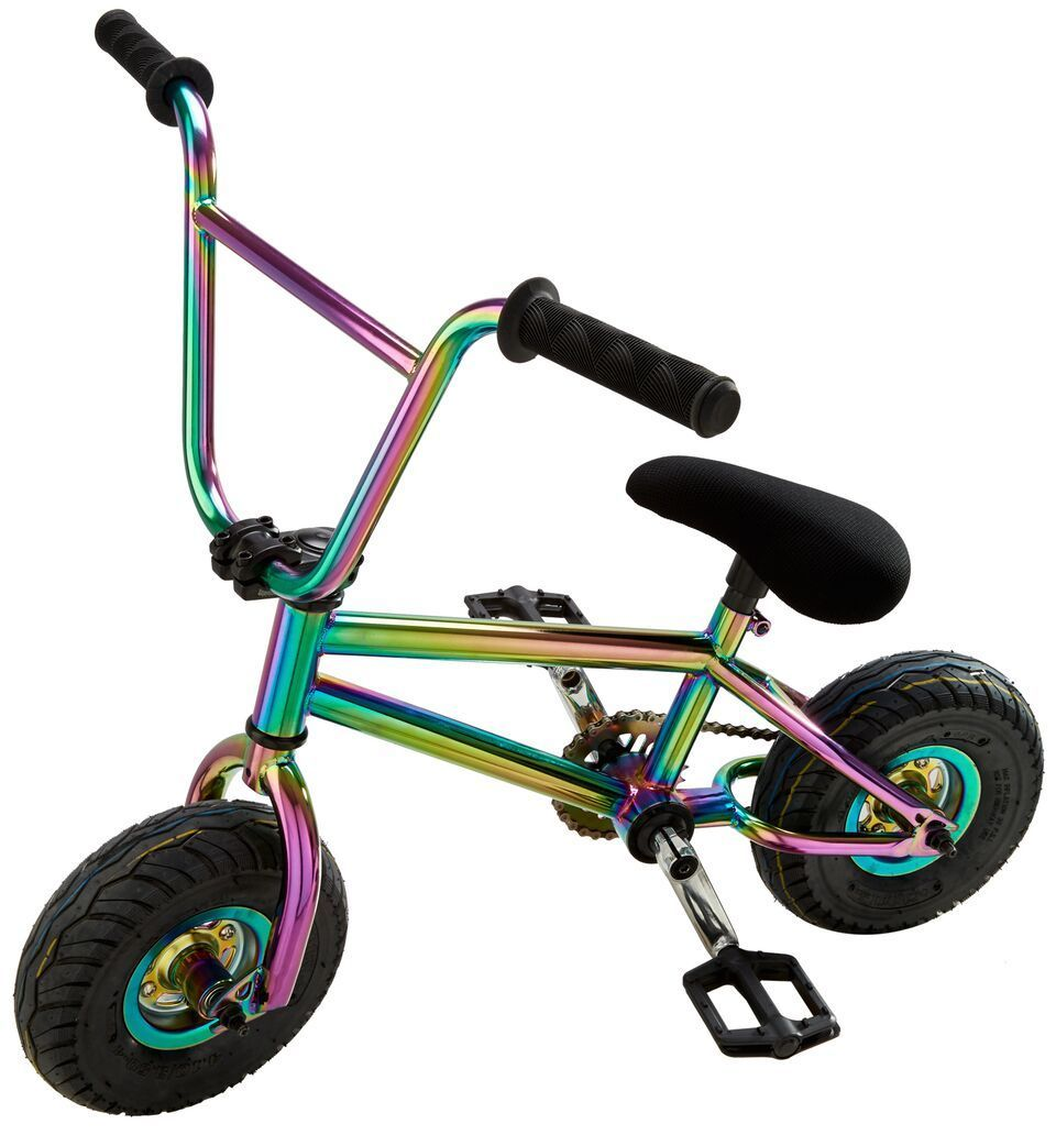 Already an owner of the coolest rainbow scooter get a load of this rainbow mini bmx bike this is the latest products by team dogz gu