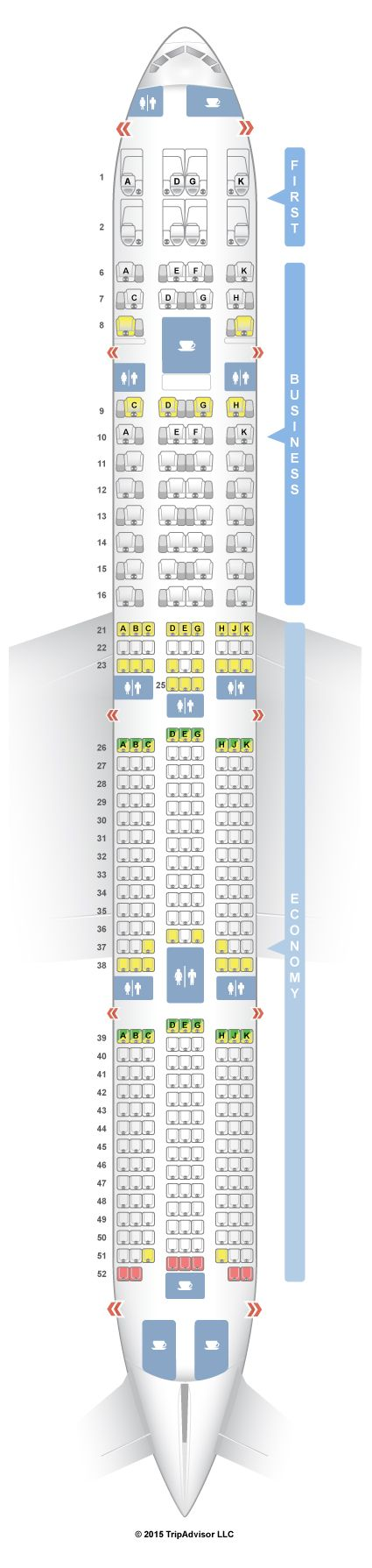 SeatGuru Seat Map Garuda Indonesia Boeing 777-300ER (77W) | Aviation on
