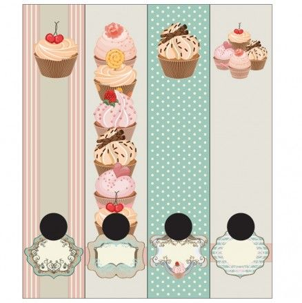 Design-A-File Cupcakes Lever Arch File Labels Available at 5rooms.com