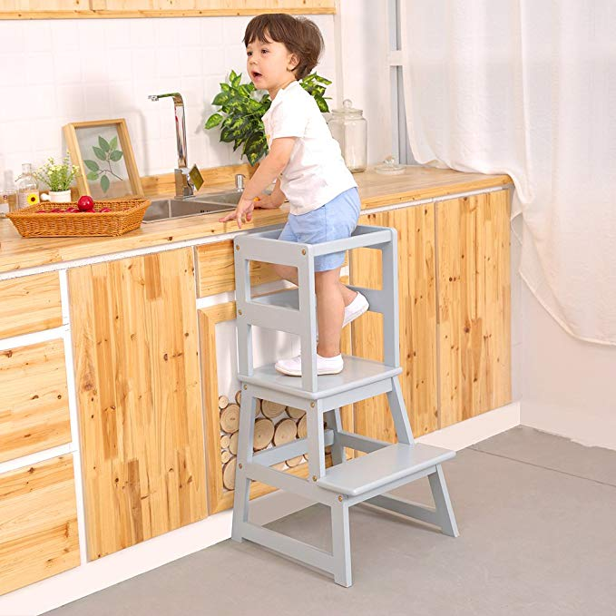UNICOO Kids Step Stool, Kids Learning Stool