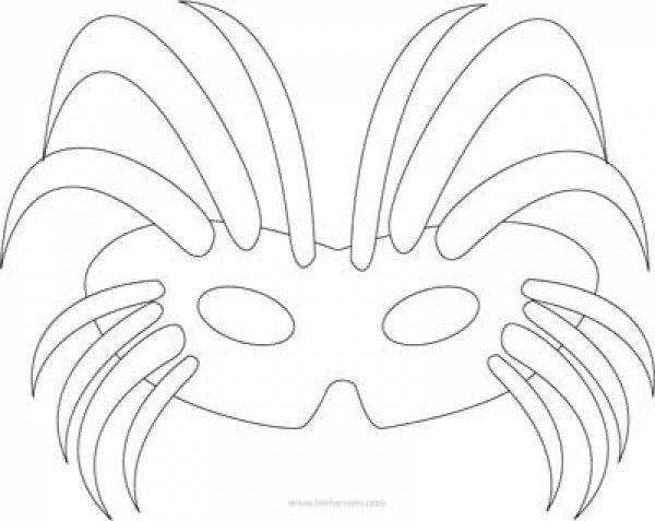 farsang álarc papírálarc sablon álarcsablon álarckészítés - printable mask template