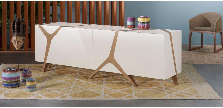 Contemporary Sideboard Oak Mangrove By Marco Fumagalli Roche  # Buffet Roche Bobois