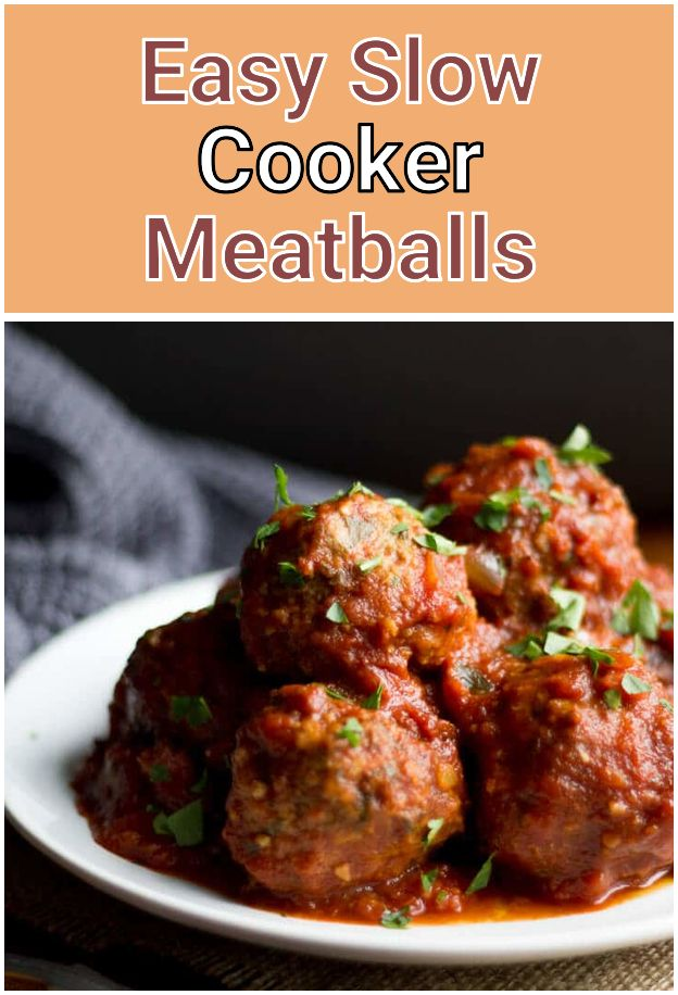 all recipes comfort food: Easy Slow Cooker Meatballs. With ...