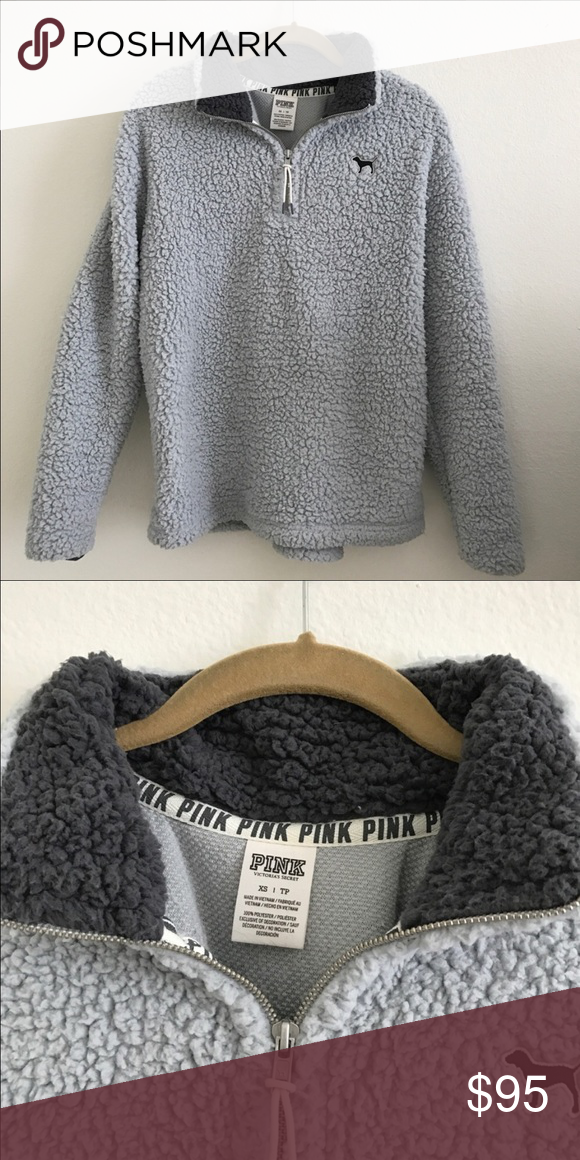 ⭐️SOLD⭐ VS PINK Sherpa pullover jacket | vs Pink, Pullover ...