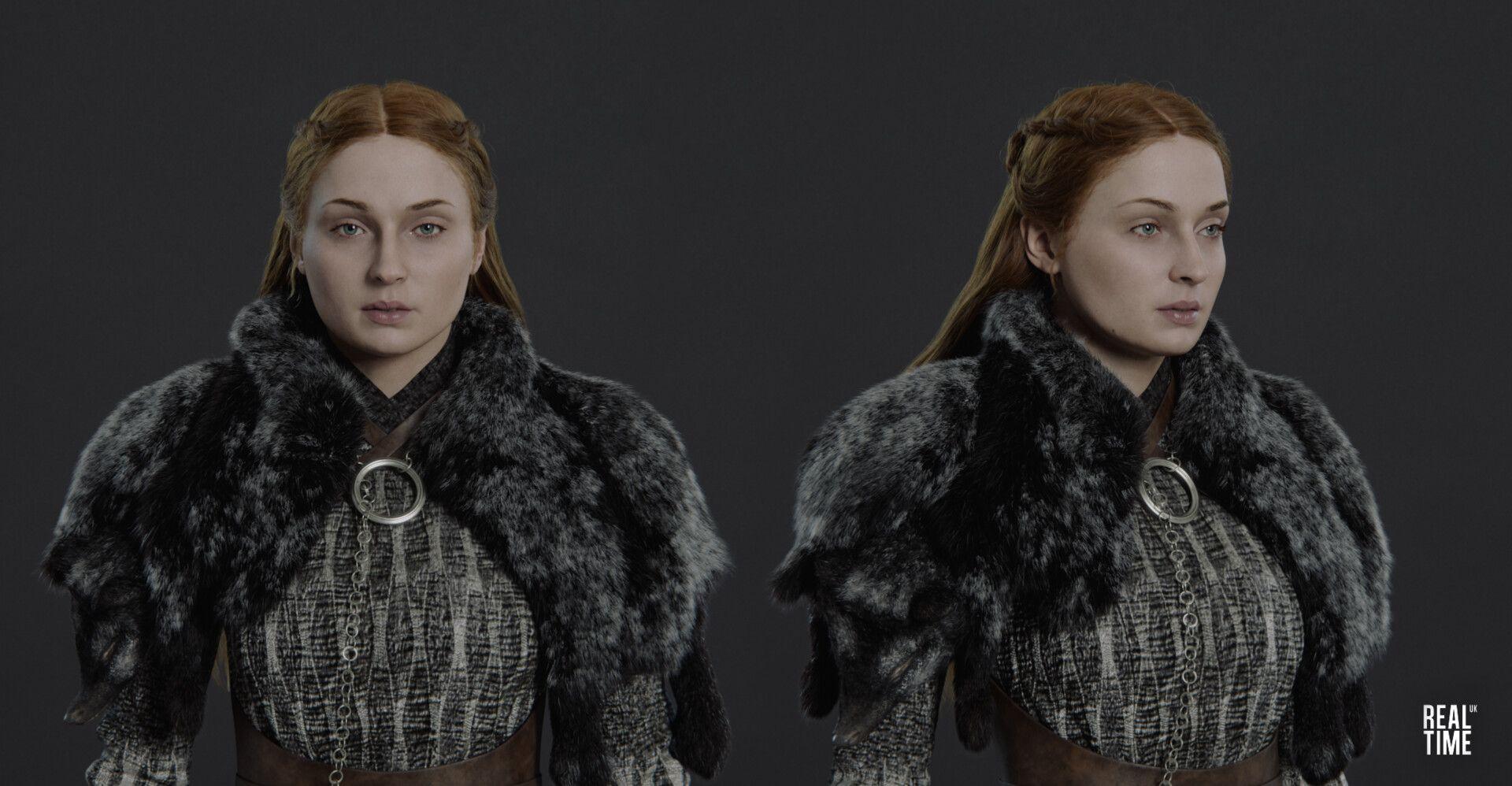 Artstation Sansa Stark Game Of Thrones Winter Is Coming David Weaver Sansa Stark Sansa Stark